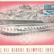 Sellos: 1956. ITALIA. MÁXIMA/MAXIMUM CARD. JUEGOS OLÍMPICOS DE INVIERNO. WINTER OLYMPICS. DEPORTES/SPORTS.. Lote 143651246