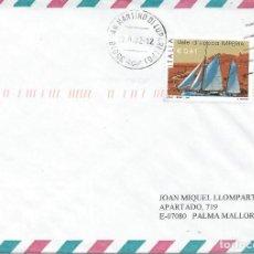 Sellos: 2002. ITALIA. SOBRE CIRCULADO FRANQUEO SELLO REGATA VELA DE ÉPOCA. SAILING. DEPORTES/SPORTS. BARCOS.. Lote 143651766