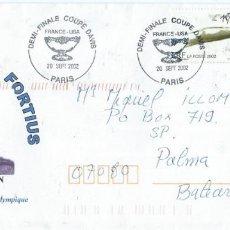 Sellos: 2002. FRANCIA. MATASELLOS/POSTMARK. PARÍS. COPA DAVIS FRANCE-USA.TENIS/TENNIS. DEPORTES/SPORTS.. Lote 143652770