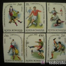Sellos: RUMANIA 1981 IVERT 3363/8 *** CAMPEONATO DEL MUNDO DE FUTBOL - ESPAÑA 82. Lote 147014350