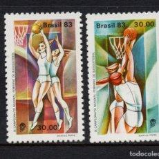 Sellos: BRASIL 1609/10** - AÑO 1983 - CAMPEONATO DEL MUNDO FEMENINO DE BALONCESTO. Lote 147024034