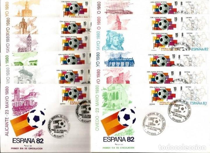Sellos: 14 SPD CIUDADES SEDE ESPAÑA 82 EDIFIL 2570/1 - Foto 2 - 47428435