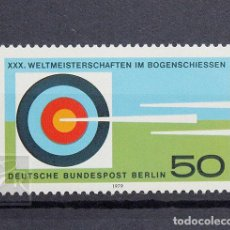 Sellos: ALEMANIA BERLÍN 1979 ** NUEVO ** MNH ** CAMPEONATO MUNDIAL DE TIRO CON ARCO. Lote 147436886