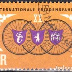 Sellos: 1967 - ALEMANIA - DDR - CARRERA CICLISTA POR LA PAZ VARSOVIA-BERLIN-PRAGA - YVERT 975. Lote 147566026