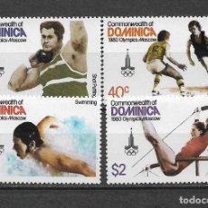Sellos: DOMINICA 1980 SC 664-667 (4) 2.30 ** MNH - 7/16. Lote 148619838