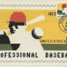 Sellos: 1998. ESTADOS UNIDOS/USA. MÁXIMA/MAXIMUM. BEISBOL/BASEBALL. DEPORTES/SPORTS. FLORES/FLOWERS.. Lote 151523118