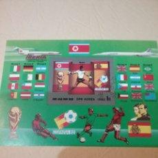 Sellos: HB COREA NORTE MTDA (DPKR)/1982/COPA MUNDIAL FUTBOL ESPAÑA,82/AVION/BANDERAS/SELECCIONES/DEPORTE/. Lote 152154821
