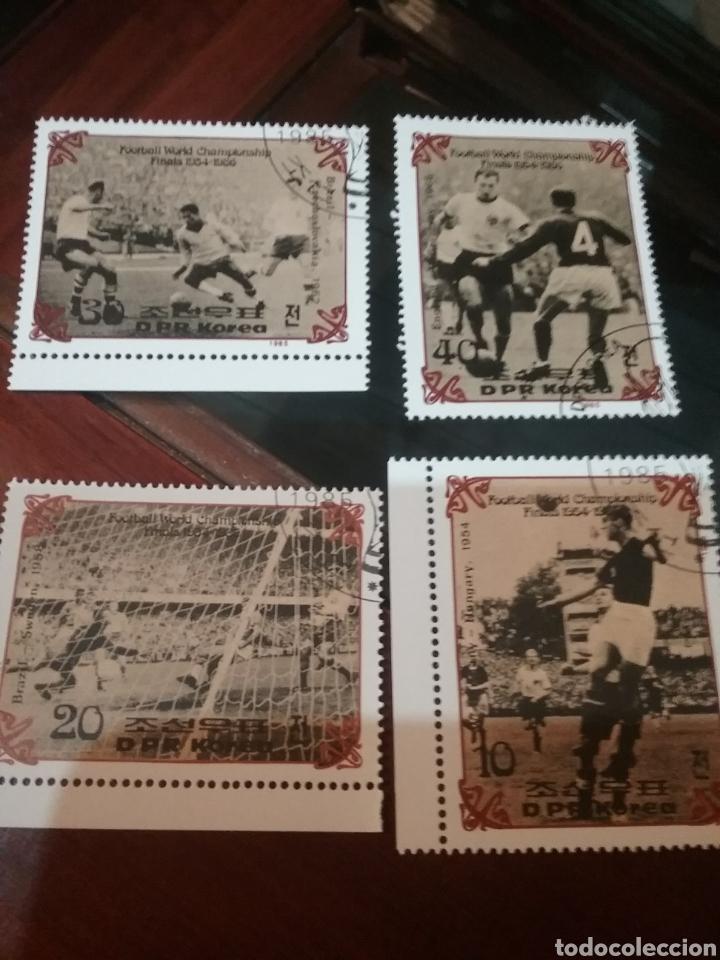 SELLOS COREA NORTE MTDA (DPKR)/1985/CAMPEONATO MUNDIAL FUTBOL. HOSTORIA. FINALES/SELECCIONES/DEPORTE (Sellos - Temáticas - Deportes)