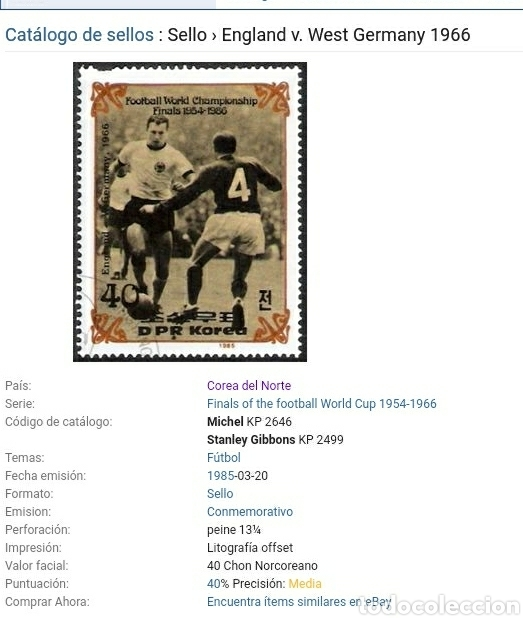 Sellos: Sellos Corea Norte mtda (DPKR)/1985/Campeonato mundial futbol. Hostoria. Finales/selecciones/deporte - Foto 2 - 152343469