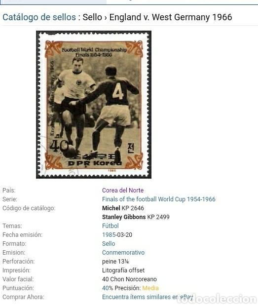 Sellos: Sellos Corea Norte mtda (DPKR)/1985/Campeonato mundial futbol. Hostoria. Finales/selecciones/deporte - Foto 2 - 152343640