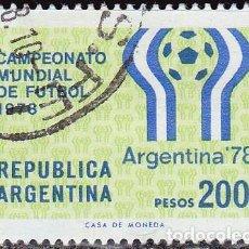 Timbres: 1978 - ARGENTINA - CAMPEONATO MUNDIAL DE FUTBOL - YVERT 1323. Lote 152714118
