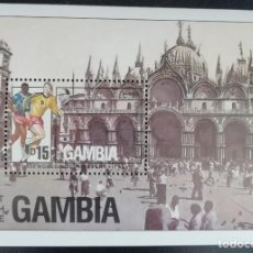 Sellos: 1990. DEPORTES. GAMBIA. HB 98. MUNDIAL FÚTBOL ITALIA. NUEVO.. Lote 154155298