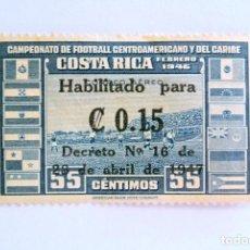 Sellos: SELLO POSTAL COSTA RICA 1946,0,15 COLÓN,CAMPEONATO DE FUTBOL CENTROAMERICANO Y DEL CARIBE,SIN USAR. Lote 154747990