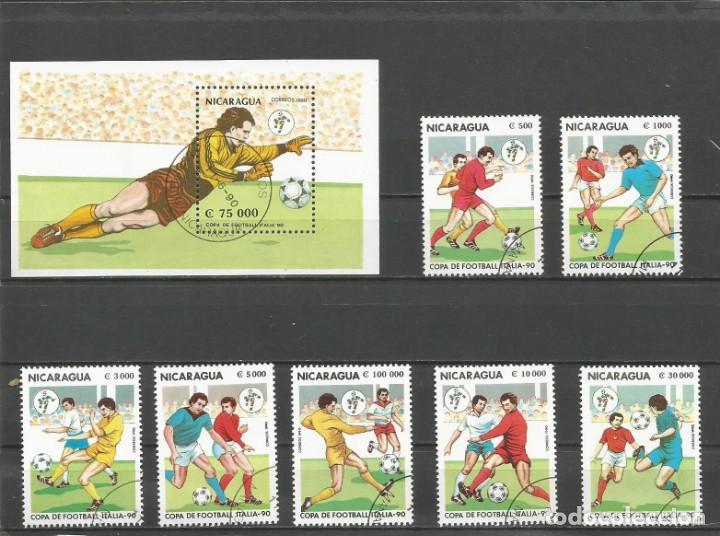 NICARAGUA - AÑO 1990 - CAMPEONATO DEL MUNDO DE FÚTBOL DE ITALIA - COMPLETA (Sellos - Temáticas - Deportes)