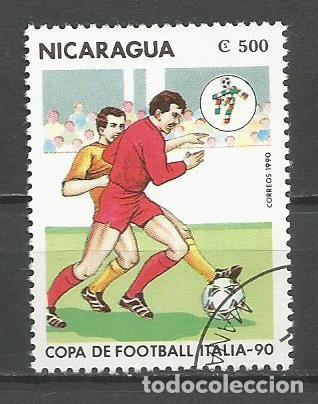 Sellos: NICARAGUA - AÑO 1990 - CAMPEONATO DEL MUNDO DE FÚTBOL DE ITALIA - COMPLETA - Foto 3 - 155321538