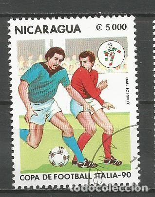 Sellos: NICARAGUA - AÑO 1990 - CAMPEONATO DEL MUNDO DE FÚTBOL DE ITALIA - COMPLETA - Foto 6 - 155321538