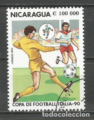 Sellos: NICARAGUA - AÑO 1990 - CAMPEONATO DEL MUNDO DE FÚTBOL DE ITALIA - COMPLETA - Foto 7 - 155321538