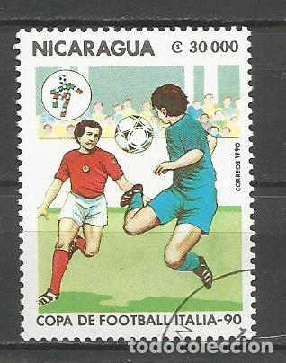 Sellos: NICARAGUA - AÑO 1990 - CAMPEONATO DEL MUNDO DE FÚTBOL DE ITALIA - COMPLETA - Foto 9 - 155321538