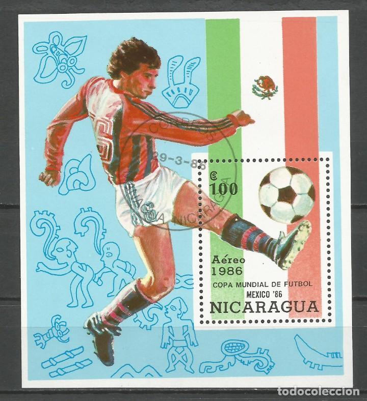 NICARAGUA - AÑO 1986 - CAMPEONATO DEL MUNDO DE FÚTBOL DE MÉXICO - COMPLETA (Sellos - Temáticas - Deportes)