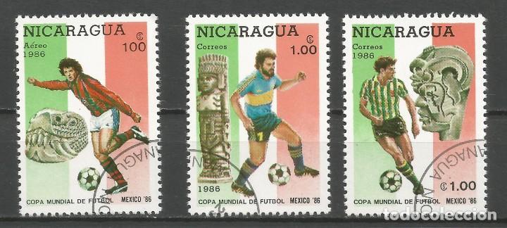 Sellos: NICARAGUA - AÑO 1986 - CAMPEONATO DEL MUNDO DE FÚTBOL DE MÉXICO - COMPLETA - Foto 2 - 155321750
