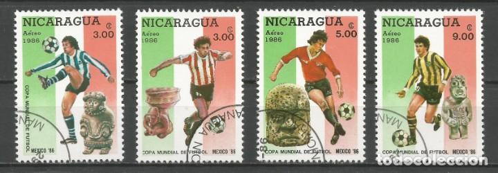 Sellos: NICARAGUA - AÑO 1986 - CAMPEONATO DEL MUNDO DE FÚTBOL DE MÉXICO - COMPLETA - Foto 3 - 155321750
