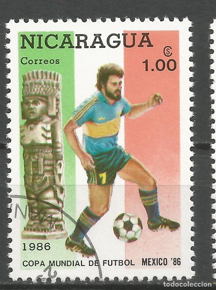 Sellos: NICARAGUA - AÑO 1986 - CAMPEONATO DEL MUNDO DE FÚTBOL DE MÉXICO - COMPLETA - Foto 9 - 155321750
