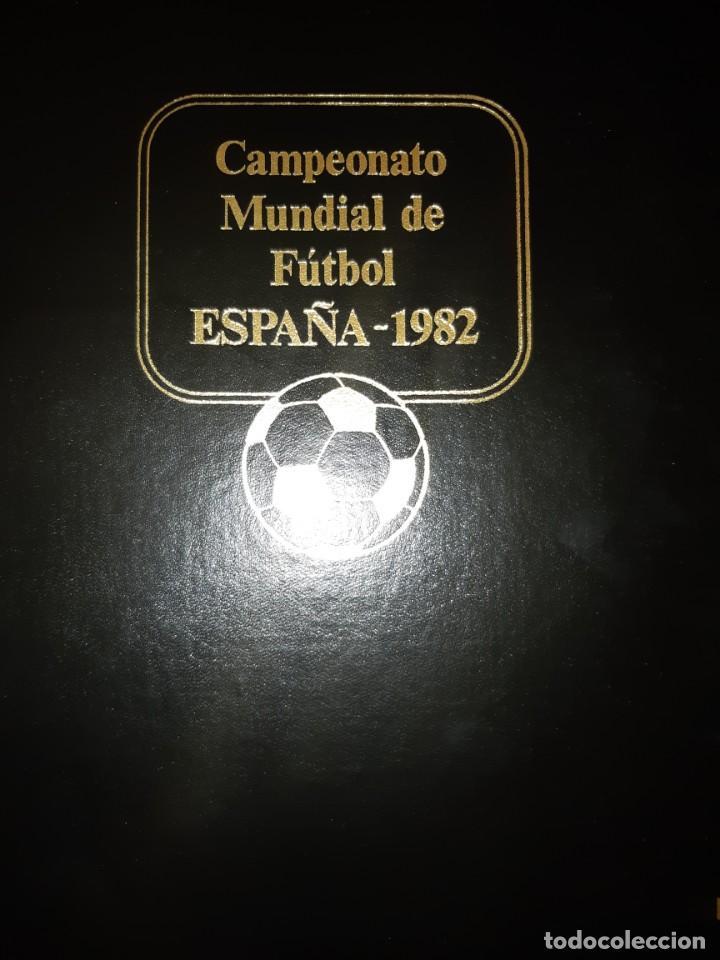 ÁLBUM MUNDIAL DE FÚTBOL ESPAÑA 82.SEDES OFICIALES. (Sellos - Temáticas - Deportes)