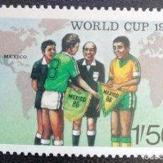 Sellos: 1986. DEPORTES. TANZANIA. 297. MUNDIAL FÚTBOL MÉXICO. SERIE CORTA. NUEVO.. Lote 156638570