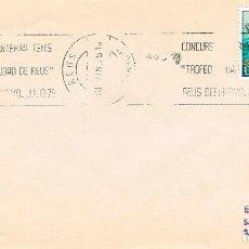 Sellos: AÑO 1975, CONCURSO INTERNACIONAL DE TENIS, TROFEO CIUDAD DE REUS TARRAGONA), RODILLO. Lote 156878814