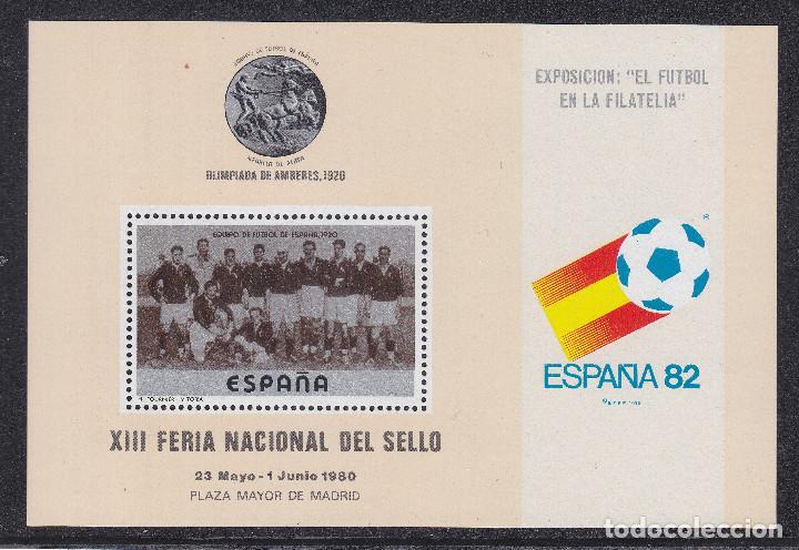 TEMA FUTBOL H.B.CON VIÑETA FOURNIER MEDALLA PLATA OLIMPIADA AMBERES 1920 - NUMERADA AL REVERSO. (Sellos - Temáticas - Deportes)