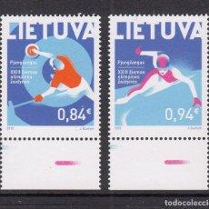 Sellos: LITUANIA 2018 XXIII JUEGOS OLIMPICOS DE INVIERNO EN PIEONCHANG. Lote 162452070
