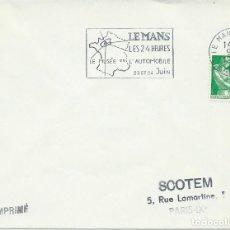Sellos: 1962. FRANCIA/FRANCE. RODILLO/SLOGAN. 24 HORAS LE MANS. AUTOMOVILISMO/AUTO RACING. DEPORTES/SPORTS. . Lote 163367366