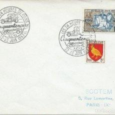 Sellos: 1957. FRANCIA/FRANCE. MATASELLOS/POSTMARK. 24 HORAS LE MANS. AUTOMOVILISMO/AUTO RACING. DEPORTES.. Lote 163367790