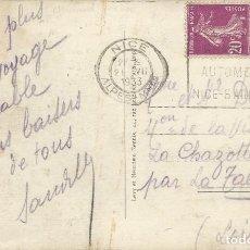 Sellos: 1933. FRANCIA/FRANCE. RODILLO/SLOGAN. NIZA, GRAND PRIX. AUTOMOVILISMO/AUTO RACING. DEPORTES/SPORTS.. Lote 163373390