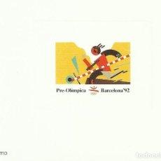 Sellos: PRUEBA DE ARTISTA. PERET. ATLETISMO. PRE-OLÍMPICA. BARCELONA 92. 9X12 CM. BUEN ESTADO.. Lote 164948462