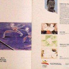 Sellos: 4A EMISIÓN DE SELLOS PREOLÍMPICOS. BARCELONA 1992. HOJA DE ARRANZ-BRAVO. MATASELLOS CONMEMORATIVO. . Lote 165076858