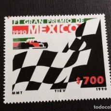 Sellos: AUTOMOVILISMO. MEXICO Nº YVERT 1324*** AÑO 1990. GRAN PREMIO DE MEXICO DE F-1. Lote 165555986