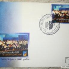 Francobolli: BOSNIA HERZEGOVINA 2003 VOLEIBOL VOLLEYBALL YVERT 395 SCOTT 440 SOBRE DE PRIMER DIA SPD FDC. Lote 166432117