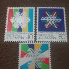 Sellos: SELLOS P. LIECHTENSTEIN NUEVO/1983/JUEGOS OLIMPIADAS INVIERNO/SARAJEVO/YUGOSLAVIA/ESTRELLAS/COPO NIE. Lote 166579485