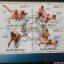 Sellos: ARTES MARCIALES SUMO HOJA BLOQUE DE SELLOS USADOS DE GUINEA BISSAU. Lote 168450389
