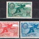 Sellos: MARRUECOS IVERT Nº 421/23, PRIMEROS JUEGOS PANARABES EN CASABLANCA, NUEVO CON CHARNELA (SERIE COMPLE. Lote 168618700