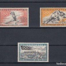 Sellos: CHECOSLOVAQUIA.1960.YVERT 1089/91.JUEGOS OLIMPICOS DE ROMA.NUEVOS.. Lote 169566828