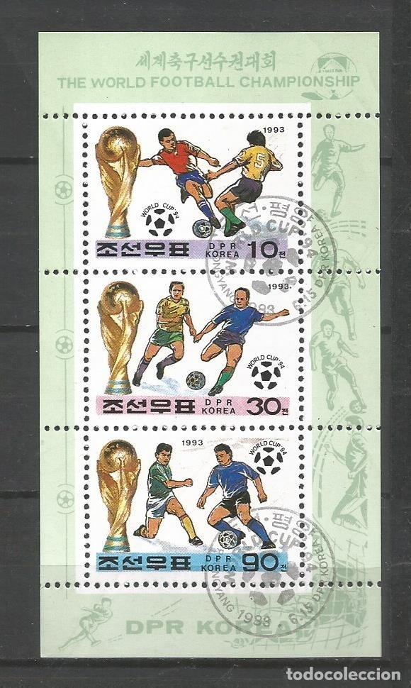 COREA DEL NORTE AÑO 1993 DEPORTES. FÚTBOL (Sellos - Temáticas - Deportes)