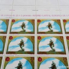 Sellos: PLIEGO 50 SELLOS 25+5 PTA. MADRID CAPITAL EUROPEA DE LA CULTURA. A. BAZÁN 1991. . Lote 172758684