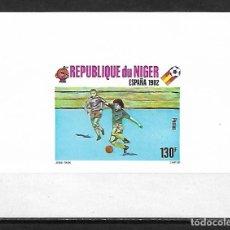 Sellos: MUNDIAL ESPAÑA 1982 HOJA BLOQUE SIN DENTAR DE NIGER NUEVA PERFECTA. Lote 172782715