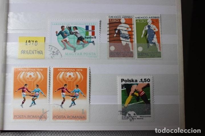 Sellos: Lote 9 sellos campeonatos mundiales de futbol, Alemania, Argentina, Mexico y EEUU - Foto 3 - 173297838