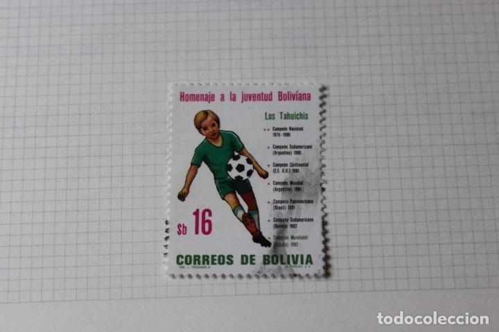 Sellos: Lote 10 sellos varios países con temática futbol - Foto 6 - 173395509