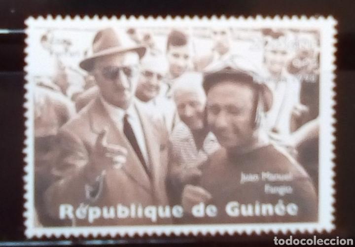 MANUEL PARGO CAMPEON MUNDIAL DE FÓRMULA 1 SELLO NUEVO DE GUINEA (Sellos - Temáticas - Deportes)