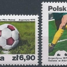 Sellos: 1978. POLONIA/POLAND. YVERT 2384/5** MNH. CAMP. MUNDIAL FÚTBOL ARGENTINA'78. FOOTBALL WORLD CUP.. Lote 176146028