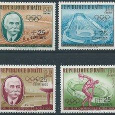 Sellos: 1960. HAITÍ. YVERT 451/2** + A-206/7** MNH. JUEGOS OLÍMPICOS ROMA. OLYMPIC GAMES. COUBERTIN.. Lote 176161130